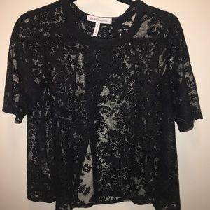 BCBG Black Lace Top